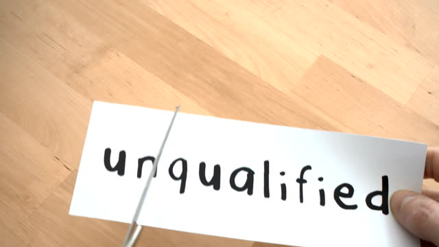 Unqualified To Qualified By Scissors