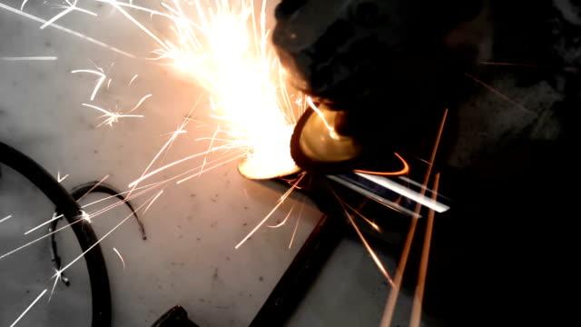 Unrecognizable person doing welding