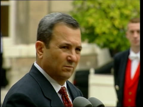 unrest/paris talks unrest/paris talks lms barak at mikes la canadian cameraman barak at mikes barak speaking to press sot have no interest in... - compound interest stock videos and b-roll footage