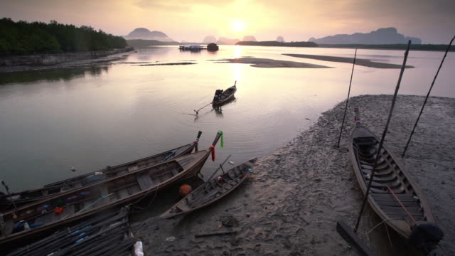 unseen thailand : footage of phang nga bay in the morning - phang nga bay stock videos and b-roll footage