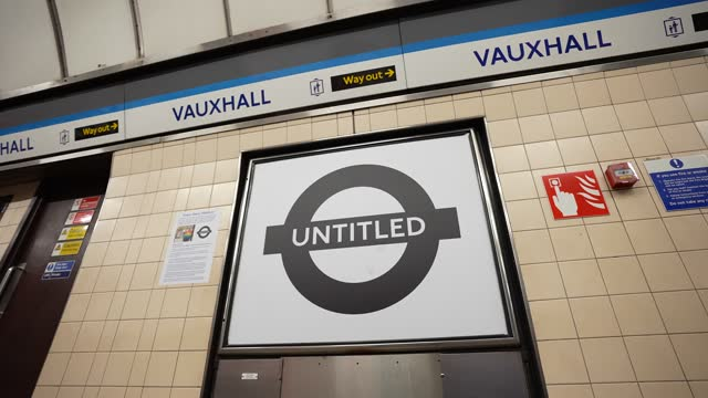"""untitled"""" by philip normal, councillor for oval ward, designer, activist at vauxhall london underground station at tfl installs new equality signs... - business finance and industry stock videos & royalty-free footage"""