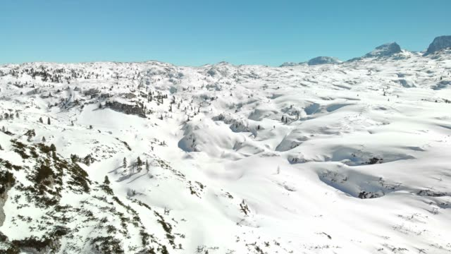 untouched winter nature in dachstein mountains - upper austria stock videos & royalty-free footage