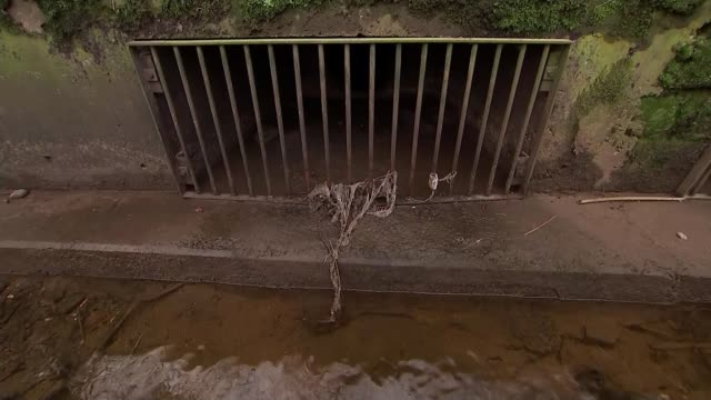 untreated sewage being released into rivers across england and wales england ext reporter to camera sot cutaway to overflow pipe - natural condition stock videos & royalty-free footage