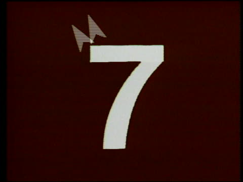 unusual video countdown leader from 8 to 3 video countdown leader on january 01, 1988 - film leader stock videos & royalty-free footage
