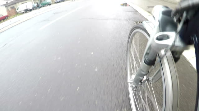 unusual view of cycling - spinning point of view stock videos & royalty-free footage