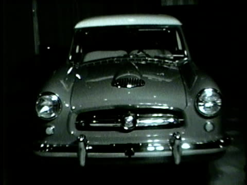 unveiling of the nash metropolitan car in chicago in 1954 - 1954 stock videos & royalty-free footage