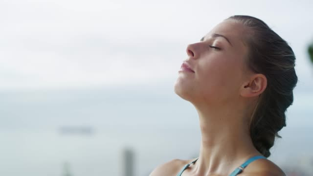 unwind with a session of yoga - dedication stock videos & royalty-free footage