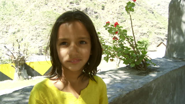 up close view of indian girl smiling - mid length hair stock videos & royalty-free footage