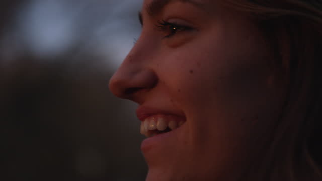 up close view of teenage girls face as she is smiling big - one teenage girl only stock videos & royalty-free footage