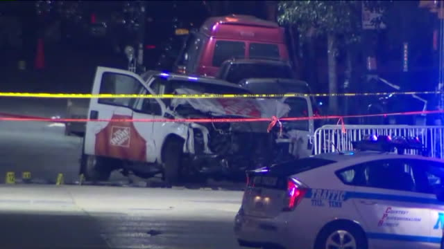 wpix up to eight people were killed and 15 others were injured in lower manhattan after a truck hit people on a bike path the driver of the truck who... - terrorism stock videos & royalty-free footage