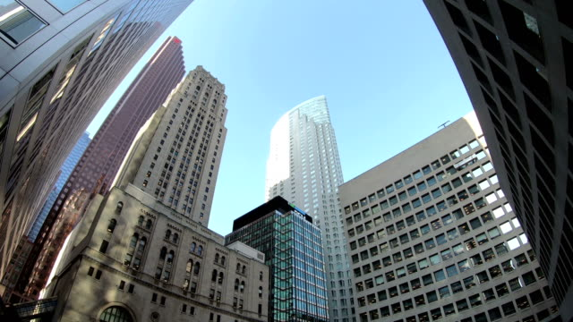 up view in financial district - bank stock videos & royalty-free footage