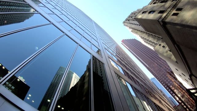 up view in financial district - downtown stock videos & royalty-free footage