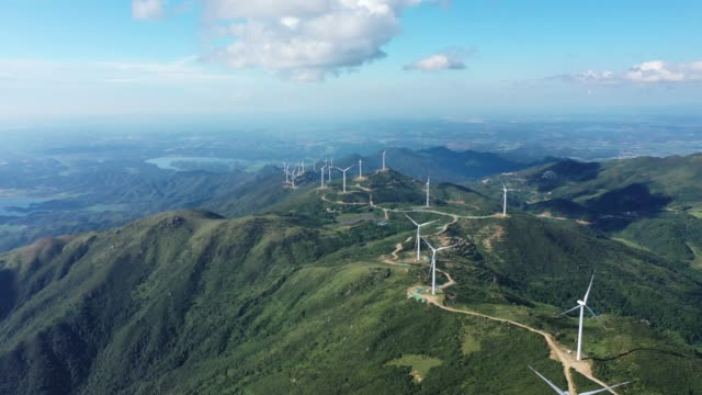 uphill wind power station - environmental conservation stock videos & royalty-free footage