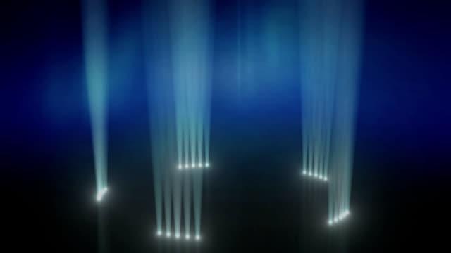 Up-light Ring Revolve Background Loop Blue