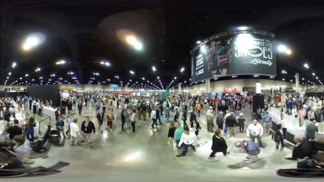 *upload to supported player to view in 3d mode* footage of interiors of the berkshire hathaway annual meeting in omaha nebraska us on saturday may 6... - jahreshauptversammlung stock-videos und b-roll-filmmaterial