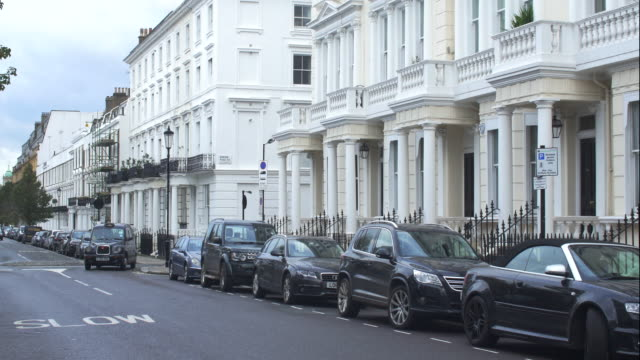 upmarket terraced property in notting hill - parking stock videos & royalty-free footage