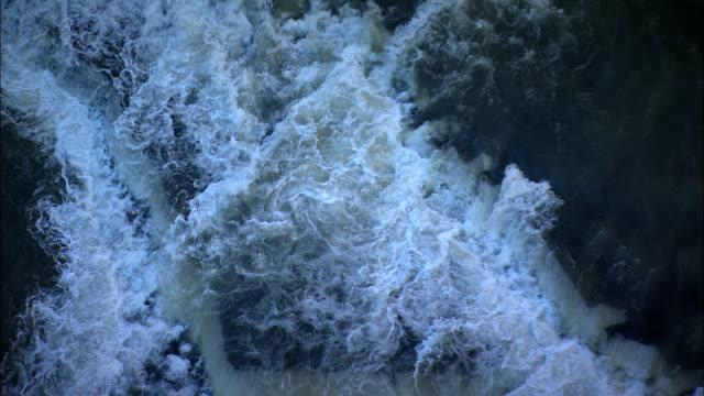 upper falls  - aerial view - new york,  livingston county,  united states - niagara falls video stock e b–roll