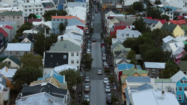upper view of reykjavik, iceland. - reykjavik stock videos and b-roll footage