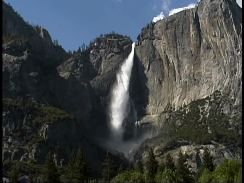 upper yosemite fall, california - upper yosemite falls stock videos & royalty-free footage