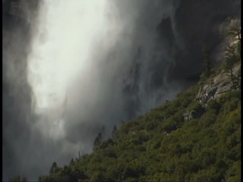 upper yosemite falls, california - upper yosemite falls stock videos & royalty-free footage