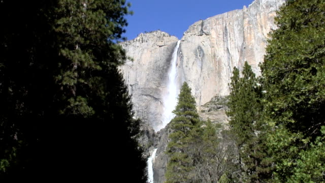 upper yosemite falls, yosemite national park, ca - upper yosemite falls stock videos & royalty-free footage