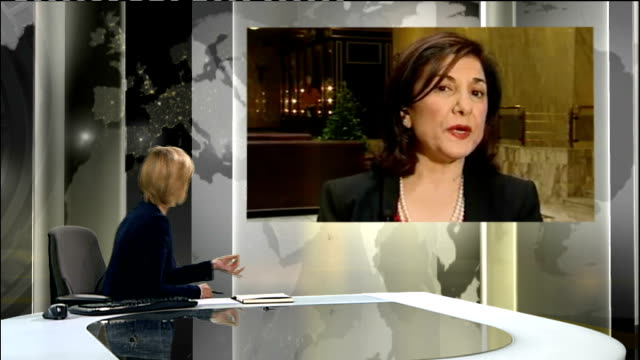 syrian soldiers open fire at funeral england london gir int bouthaina shaaban 2way interview ex syria sot - ギールフォーレスト国立公園点の映像素材/bロール