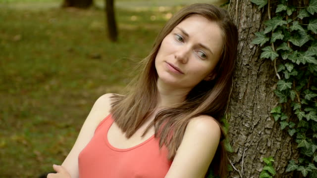 Upset young woman, close-up