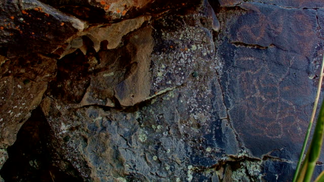 Upside down person Ancient Native American Indian Rock Art at Petroglyph Lake Hart Mountain National Antelope Refuge 34