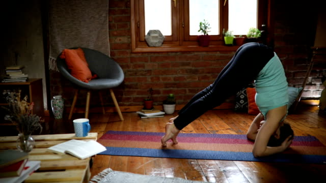 upside down - pilates stock videos and b-roll footage