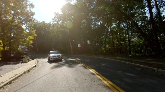 upstate ny xxiv synched series rear view driving process plate - moving process plate stock videos & royalty-free footage