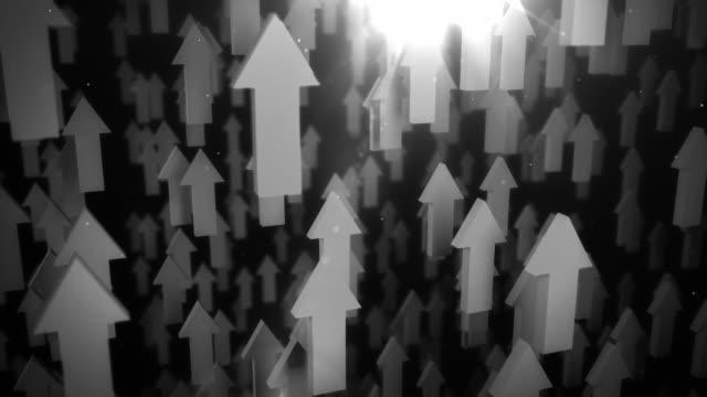 Upward Arrows Background Loop - Black & White (Full HD)