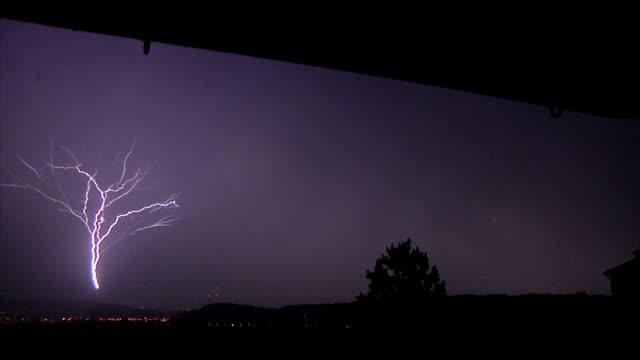 upward lightning strike - lightning strike stock videos and b-roll footage
