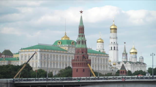 upward panning shot of the kremlin - moscow russia stock videos & royalty-free footage