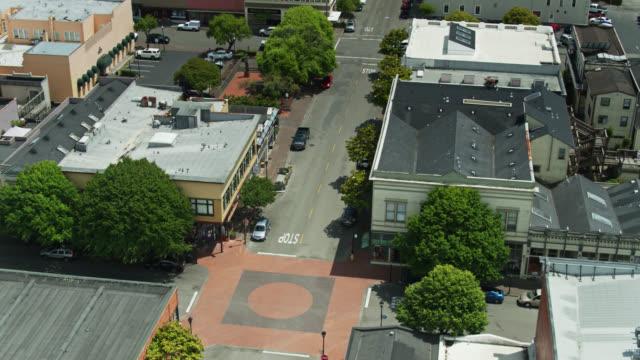 upward tilting drone shot of eureka, california - establishing shot stock videos & royalty-free footage