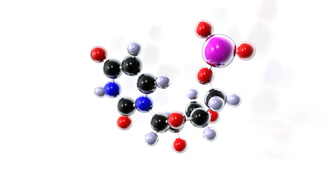 uracil rna nucleotide - 拡大イメージ点の映像素材/bロール