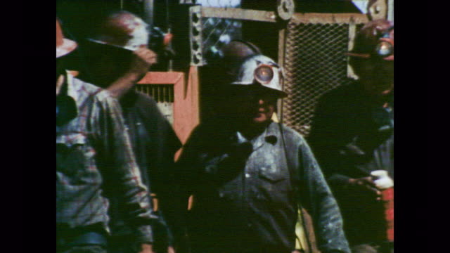 1978 uranium miners work as doctor voiceover explains the increased risk of cancer faced by uranium workers - uran stock-videos und b-roll-filmmaterial