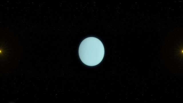 Uranus and Space - Virtual Reality 360 Degrees View