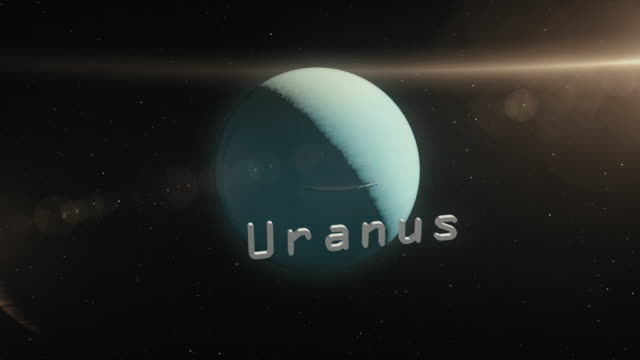 uranus planet in space 3d illustration - adobe after effects stock videos and b-roll footage