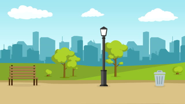 urban city landscape street road with trees and skyline background - natural parkland stock videos & royalty-free footage