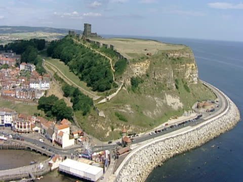 urban coastline. scarborough, uk - scarborough uk stock videos & royalty-free footage
