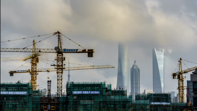 t/l urban construction in shanghai - construction stock videos & royalty-free footage