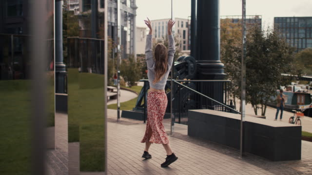 urban dancer among modern buildings - adult stock videos & royalty-free footage
