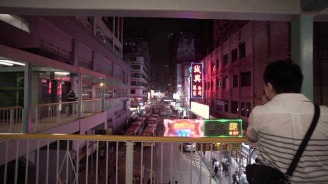 vidéos et rushes de urban density in hong kong - mong kok