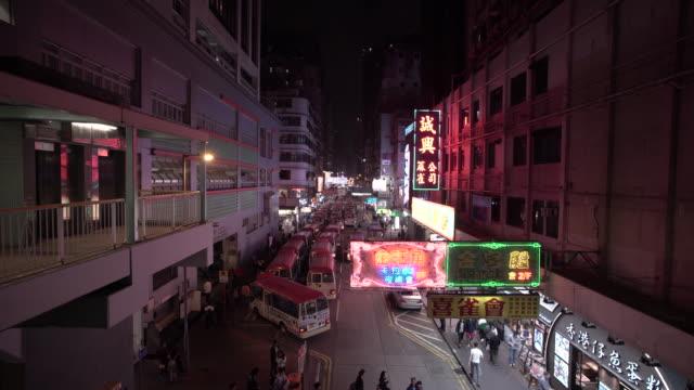 vídeos de stock e filmes b-roll de urban density in hong kong - mong kok