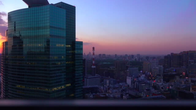 urban dusk from an elevator -4k- - elevator stock videos & royalty-free footage