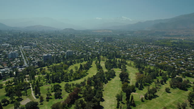 urban golf course in santiago chile - prince of wales stock videos & royalty-free footage