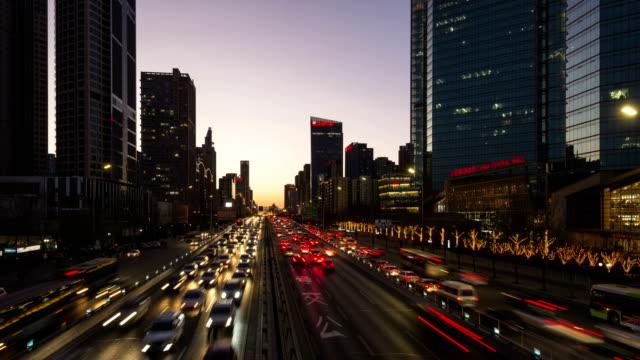 Urban highway traffic at night