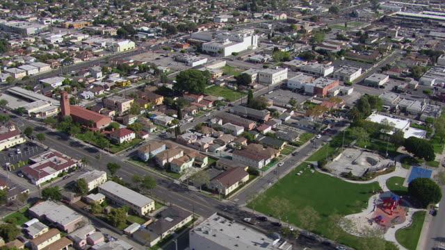 Urban landscape in Compton, California.