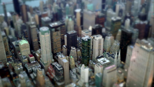urban metropolis cityscape background - tilt shift stock videos and b-roll footage