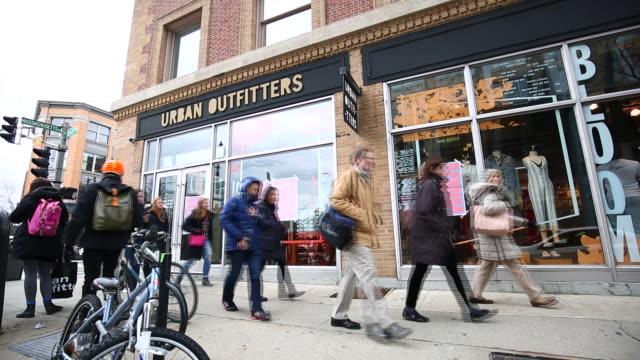 Urban Outfitters Inc store on the corner of Newbury Street and Massachusetts Avenue in Boston Massachusetts USA on Sunday March 4 2018